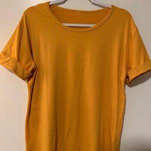 Gold Yellow Cuffed T-Shirt